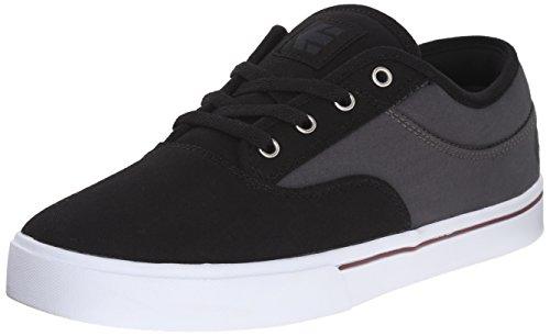 Etnies Jameson Low Top Shoe Black Dark Grey Silver Noir - BLACK DARK GREY SILVER