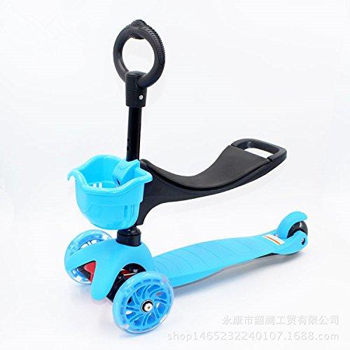 Euro American Skateboard Charrette, Enfant De Scooter, Excellente Qualité Enfant Pédales, Portable