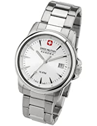 Swiss Military 06-5044.04.001 - Reloj de caballero de cuarzo, correa de acero inoxidable color plata