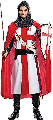 Costume di Carnevale da CROCIATO Vestito per Uomo Adulti Travestimento Veneziano Halloween Cosplay Festa Party 4468 Taglia XL