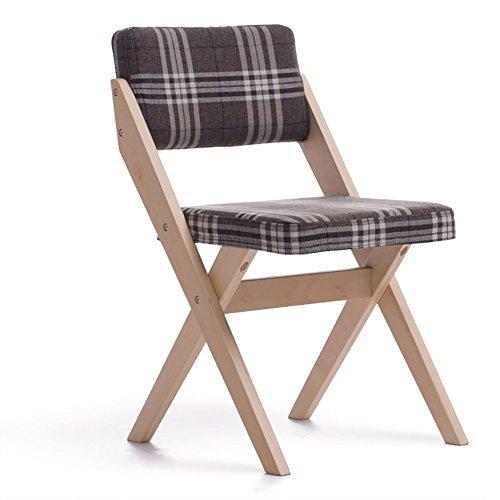 Chaise en Bois Massif Maison Simple et Moderne Dos Chaise Dossier Chaise de Bureau Chaises de réception (55 * 77 cm)