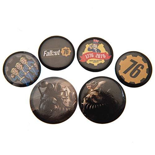 Fallout 76 - Pack de chapas (Talla Única) (Multicolor)