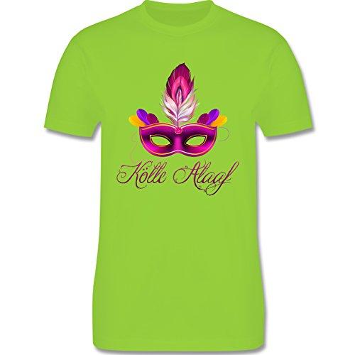 Karneval & Fasching - Maske Kölle Alaaf - Herren Premium T-Shirt Hellgrün