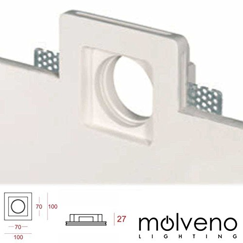 Molveno Lighting - Foco plano y fino Aragon X LED GU5.3GU10empotrable cuadrado...