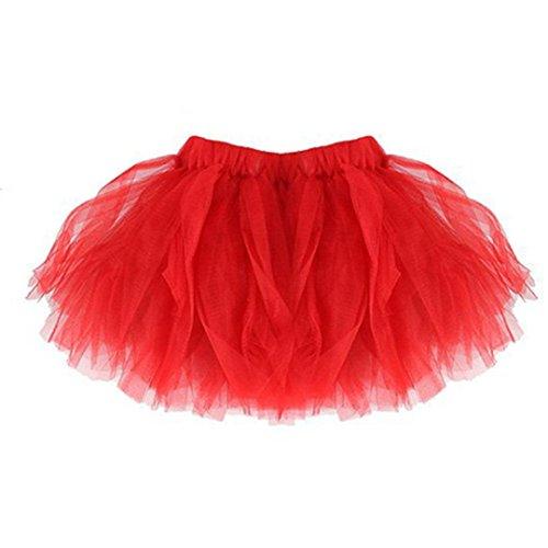 Mädchen Tüll Rock, FNKDOR Tütü Minirock Tüllrock Petticoat -