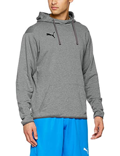 Puma Herren LIGA Casuals Hoody Sweatshirt, grau(Medium Gray Heather Black), L