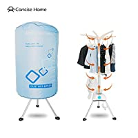Concise Home Portable Electric Clothes Dryer Home Dorms Hot Air Machine Stand Rack with Cover