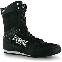 Lonsdale Botas de boxeo alta contendiente - blanco y negro