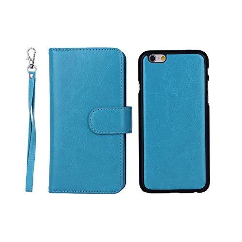 """F8Q luxe PU Housse en cuir Wallet Card Housse de protection amovible Flip pour Apple iPhone 6 Plus 5.5 """" rouge"""