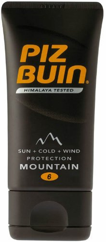 Piz Buin Mountain Cream Sun Tan Lotion SPF 6 Pocket Size 40ml by Piz Buin