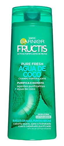 Garnier Fructis Champú Pure Fresh Agua de Coco - 360 ml