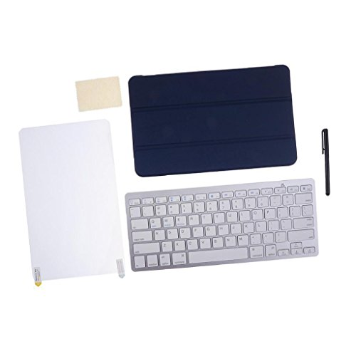 ELECTROPRIME® Unversal Bluetooth Wireless Keyboard +Case for Galaxy Tab E 9.6