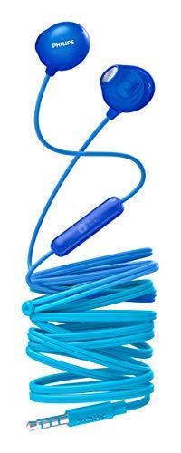hörer SHE2305BL/00 Kopfhörer In Ear mit Mikrofon (Integriertes Mikrofon, 12,2-mm-Treiber, Transluzentes Gehäuse, 1,2-m-Kabel, Komfortables Design) Blau ()