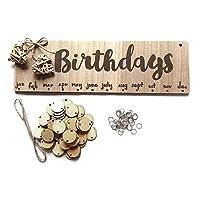 ArgoBar Wooden Lowercase Letters Birthdays Calendar Hanging Board