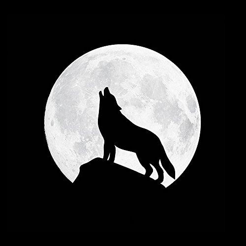Apple iPhone 6s Hülle Silikon Case Schutz Cover Wolf Vollmond Mond Hard Case transparent