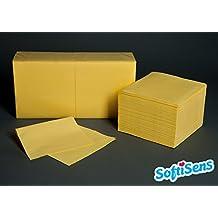 250 hochwertige Servietten Maße: 33x33 Farbe: creme 1//8 Falz 2-lagig