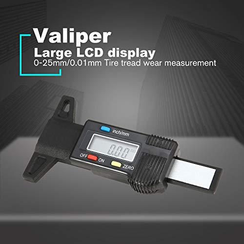 Autoreifen Digitaler Tiefenmesser Sattel Tread Tiefenmesser LCD Reifenprofilmesser