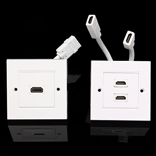 RanDal 2 Port Wall Plates Dual-Outlet-Wandplatten-Sockel Für Theater Dvd-Kabel - Doppelkopf Interface Wall Plate