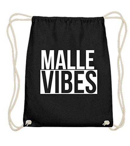 a1ae535e5336b Malle Vibes Turnbeutel schwarz aus 100% Baumwolle PREMIUM QUALITÄT -  Mallorca Lifestyle Gymsac mit.