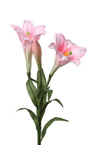 artplants Set 12 x Künstliche Oster-Lilie ERISA, rosa, 75 cm, Ø 8-11 cm - 12 Stück Kunstblumen/Künstliche Lilien