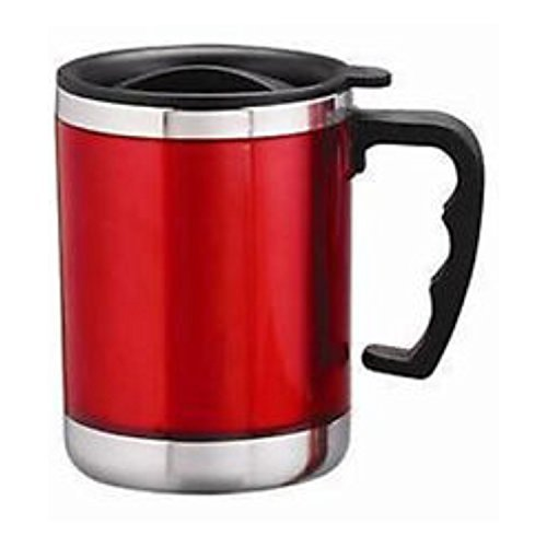 JMD DESIGN Stainless Steel Insulated Travel Coffee Mug 450ml - Red or Blue or Green (Mix Colour)