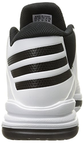 Adidas Performance First Step scarpa da basket, nero / bianco / nero, 6,5 M Us Black/White/Black
