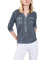 edc by Esprit 086cc1k069, T-Shirt à Manches Longues Femme