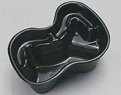 Heissner 120cm x 90cm x 40cm Plastic Seater Preformed Pond Basin - Black