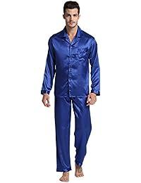 Hommes de Pyjama, Satin Vêtements Manches Longues Ensemble de Pyjama pour Hommes par Tony & Candice