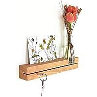 Schlüsselleiste Buche mit Blumenvase Schlüsselbrett