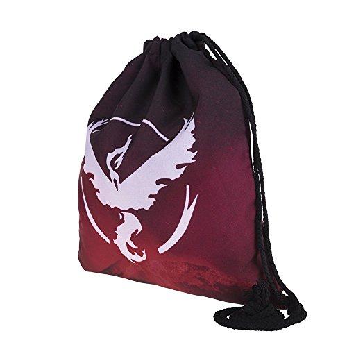 Lässige Mode für Frauen Cartoon 3D Digital gedruckten Flügel Vogel Kordelzug Rucksack fitness Paket Tunnelzug String Rucksack, eine Ein