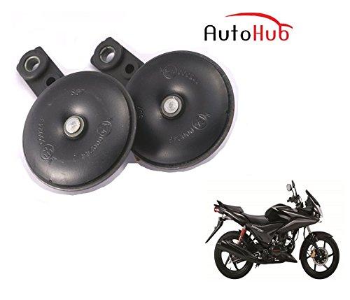 Auto Hub Uno Minda Bike Horn Set For Honda CBF Stunner - Set of Two (Black)  available at amazon for Rs.599
