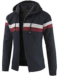 Cárdigan Básico para Hombre ZARLLE Suéter de hombre Otoño invierno Cárdigan  de punto de hombre Abrigo 1a84f70ebbd