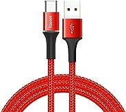 Baseus Halo Data Kablo, Type-C, 3A, 1m, Kırmızı - CATGH-B09