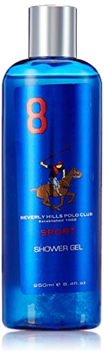 Beverly Hills Polo Club Sports Shower Gel for Men, No 8, 250ml