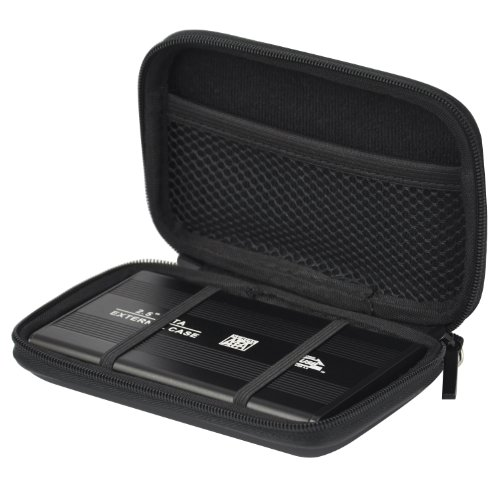 TRIXES HDC2 Small Black EVA Hard Case for External Portable Hard Drive