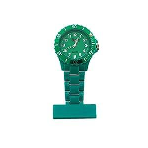 BOXX F043 Green - Montre Gousset Infirmière, Couleur Vert Vif, avec Lunette Rotative