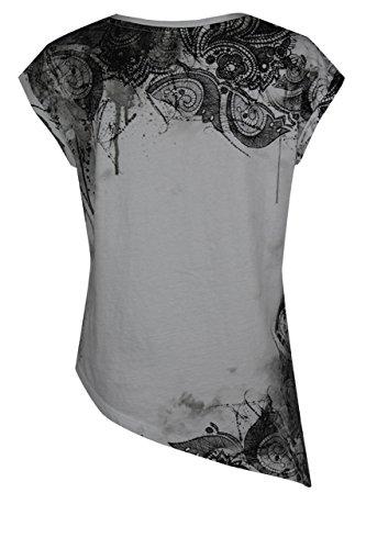 trueprodigy Casual Damen Marken T-Shirt mit Aufdruck, Oberteil cool und stylisch mit Rundhals (kurzarm & Slim Fit), Top für Frauen bedruckt Farbe: Schwarz 1072527-2999 Black