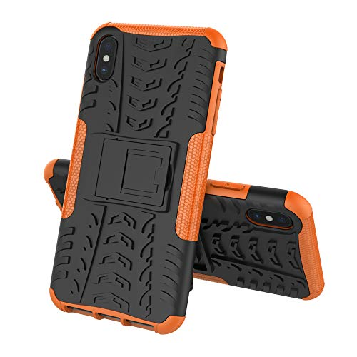 Schutzhülle handyhülle iPhone X/Xs Cover case,2 in 1 Dual-Layer-Hyun-Muster Hybrid Rüstung Ständer stoßfest Fall für iPhone Xr/Xs Max hülle (6, iPhone XS) (Hybrid-rüstung Iphone 6 Fällen)