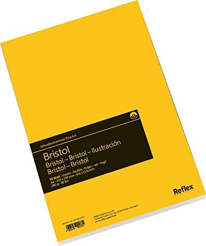 Schoellershammer VF5004290 Bristol Zeichenpapier A4, Zeichenblock, 50 Blatt, 180 g/qm hoch weiß