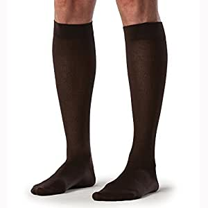 Sigvaris Sea Island Cotton 222CMLM99 20-30mmHg Mens Closed Toe, Calf Socks - Black, Medium Large by Sigvaris