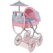 Decuevas Toys - Muñeca Triana, coche con bandeja, bolso y sombrilla, 42x68x81 cm