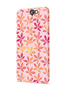 Cover Affair Floral / Flowers Printed Designer Slim Light Weight Back Cover Case for HTC One A9
