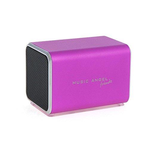 Music Angel Friendz JH-MD04E2PINK mobiler Lautsprecher mit 120 Stunden Wiedergabezeit für Apple iPhone/iPad/iPod/MP3-Player pink Aav-kabel