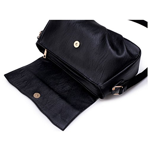 Frauen Arbeiten Schulter-Beutel-beiläufige Handtasche Black