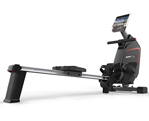 SportPlus Indoor Rower – Rowing Machine – Includes 5 kHz Heart Rate Strap Receiver in Rowing...