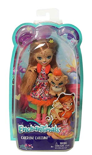 Enchantimals Muñeca mascota Cheris Cheetah Mattel