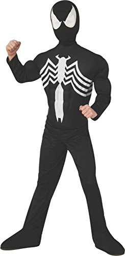 Rubies Marvel Ultimate Spider-Man / Venom Deluxe Muscle Chest Black Costume, Child Small - Small One Color by ()