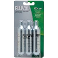 Fluval Mini Recambio para Sistema Presurizado de CO2 20 - Paquete de 3 Unidades x 20 gr - Total: 60 gr