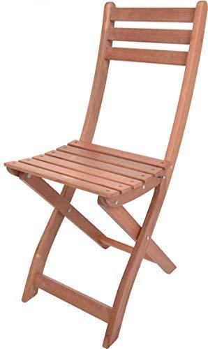 Spetebo Eucalyptus Table de Jardin ou Chaise – Sélection – Bois Table Pliante Table de Bistro Table de Jardin de bière Stuhl Naturel